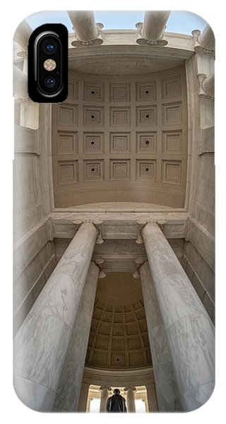 Up At The Jefferson Memorial IPhone Case
