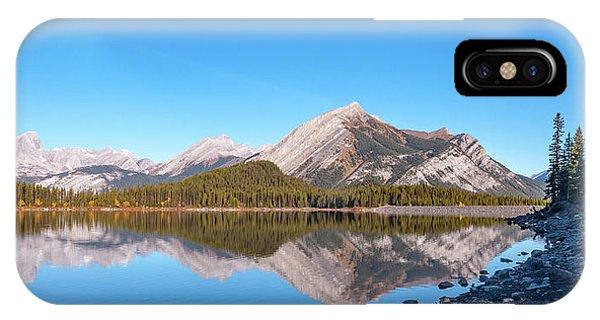 Upper Kananaskis Lake And Reflection IPhone Case