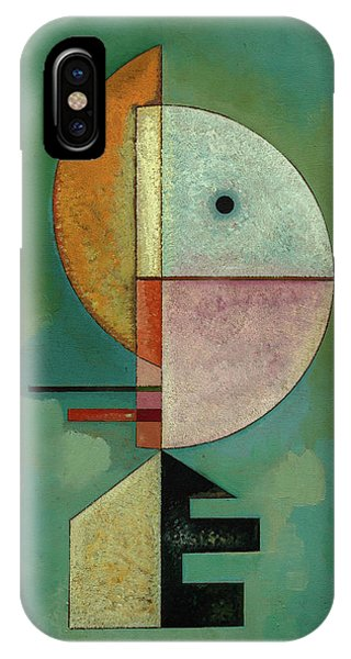 Illusion iPhone Case - Upward - Empor, 1929 by Wassily Kandinsky