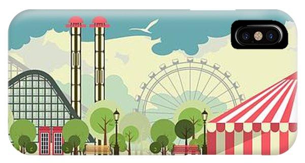 Fair iPhone Case - Urban Amusement Park Circus Tent by Marrishuanna