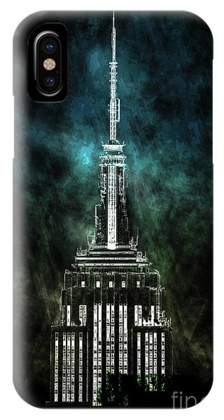 Empire State Building iPhone Case - Urban Grunge Collection Set - 10 by Az Jackson