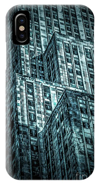 Empire State Building iPhone Case - Urban Grunge Collection Set - 11 by Az Jackson