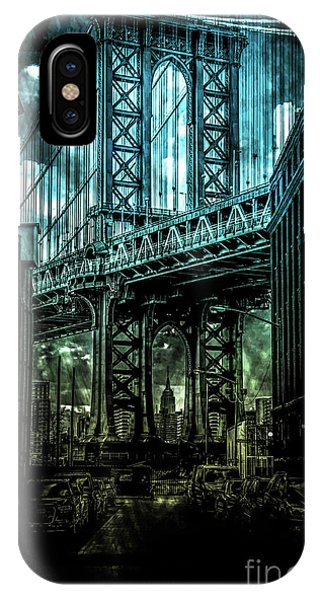 Empire State Building iPhone Case -  Urban Grunge Collection Set - 12 by Az Jackson