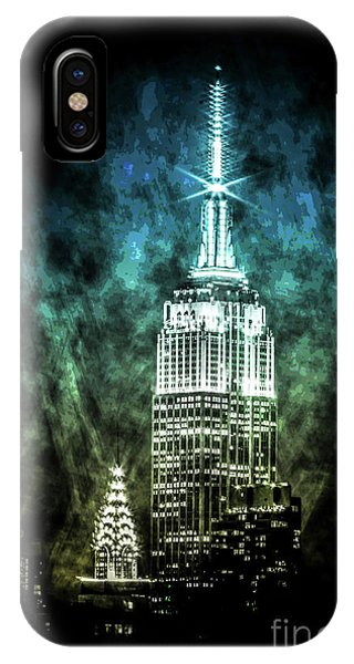 Empire State Building iPhone Case -  Urban Grunge Collection Set - 16 by Az Jackson