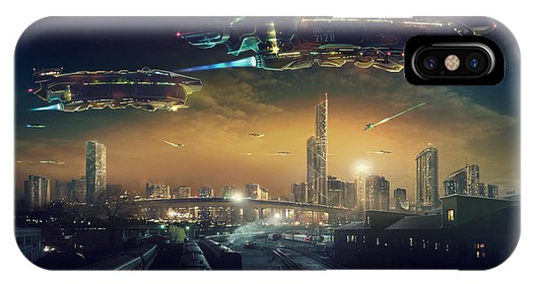 Technological iPhone Case - Urban Landscape Of Post Apocalyptic by Rustic