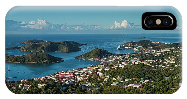 iPhone Case - Us Virgin Islands, St Thomas Elevated by Walter Bibikow