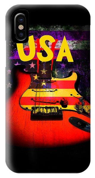 Usa Flag Guitar Purple Stars And Bars IPhone Case