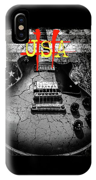 Usa Flag Guitar Relic IPhone Case