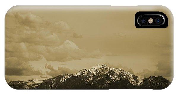 Utah Mountain In Sepia IPhone Case