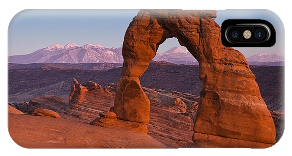 Sandstone iPhone Case - Utahs Delicate Arch At Dusk by Andrew S