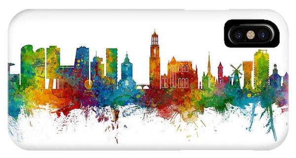 Holland iPhone Case - Utrecht The Netherlands Skyline by Michael Tompsett