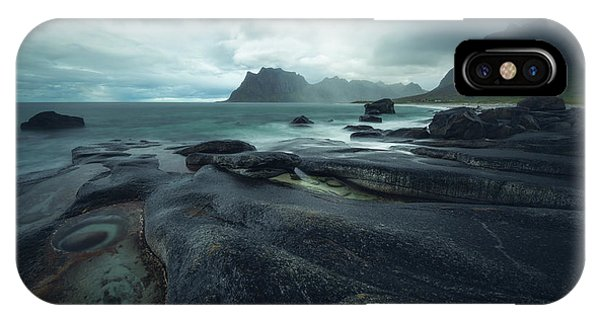 Storm iPhone Case - Uttakleiv Mood by Tor-Ivar Naess