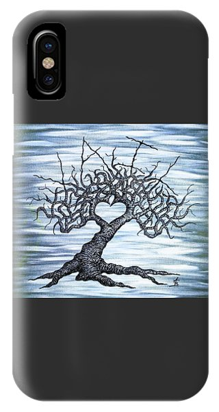 IPhone Case featuring the drawing Vail Love Tree by Aaron Bombalicki