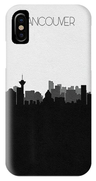 Vancouver Skyline iPhone Case - Vancouver Cityscape Art by Inspirowl Design