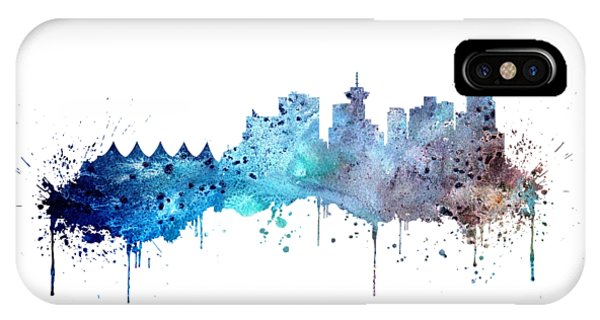 Vancouver Skyline iPhone Case - Vancouver by Erzebet S