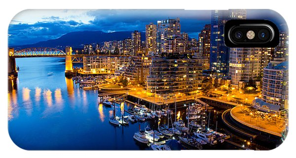 Night iPhone Case - Vancouver Night View by Abesan