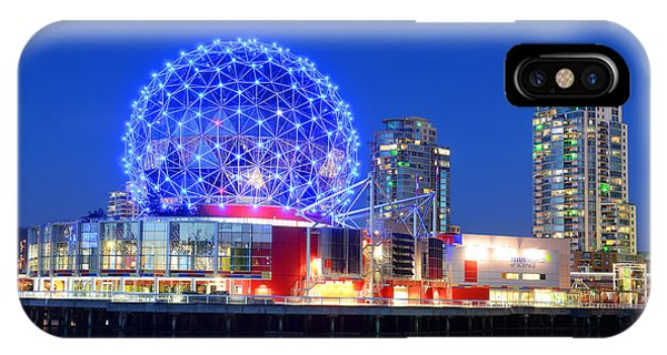 Vancouver Science World At Night Phone Case by Wangkun Jia