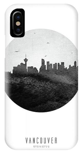 Vancouver City iPhone Case - Vancouver Skyline Cabcva04 by Aged Pixel