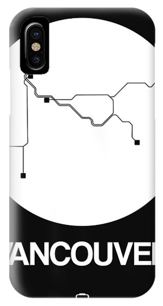 Vancouver City iPhone Case - Vancouver White Subway Map by Naxart Studio