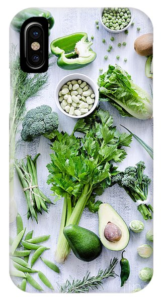 Mixed iPhone Case - Variety Of Green Vegetables Produce On by Daxiao Productions