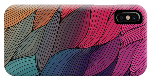 Ripples iPhone Case - Vector Abstract Hand-drawn Waves by Markovka