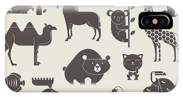 Vector iPhone Case - Vector Animals Set by Vector Pro