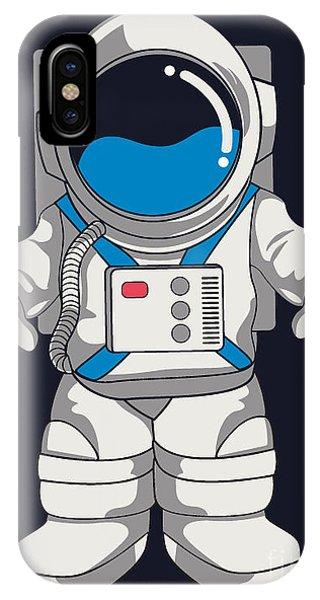 Astronaut iPhone Case - Vector Astronaut Design by Braingraph