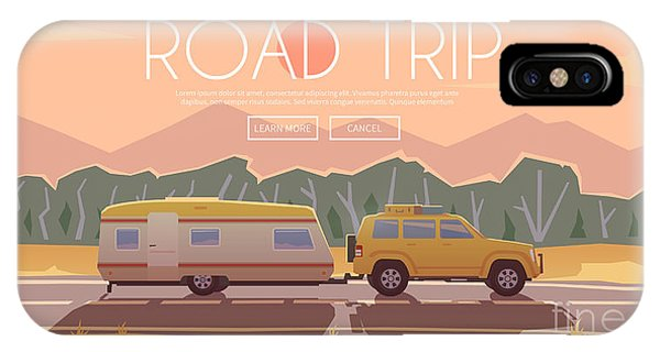 Trip iPhone Case - Vector Flat Web Banner On The Theme Of by Red Monkey