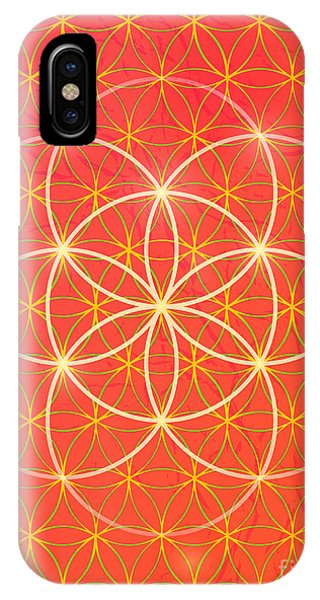 Peace iPhone Case - Vector Geometric Background Is. Bright by An Vino