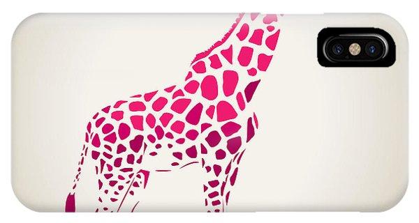 Vector Graphics iPhone Case - Vector Giraffe Silhouette, Abstract by Oxanaart