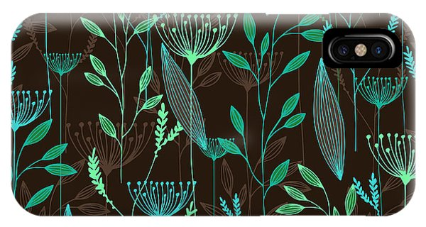 Ingredient iPhone Case - Vector Grass Seamless Pattern by Oxanaart