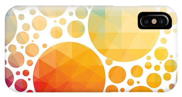 Orange Color iPhone Case - Vector Illustration Of Colorful by Artem Kovalenco
