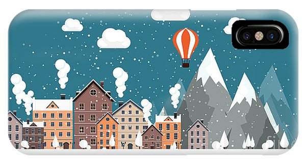 Freeze iPhone Case - Vector Illustration. Winter Urban by 32 Pixels