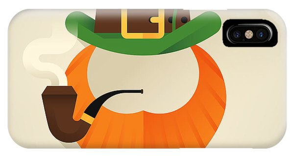 Irish iPhone Case - Vector Modern Flat Design Icon On Saint by Mascha Tace