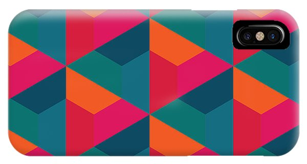 Bed iPhone Case - Vector Modern Seamless Colorful by Sunspire