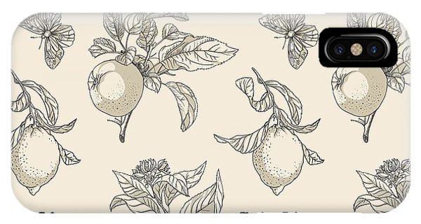 Provence iPhone Case - Vector Pattern In Vintage Style by Yana Fefelova