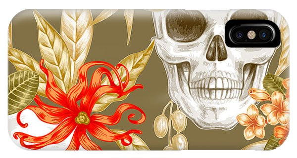 Death iPhone Case - Vector Seamless Background. Exotic by Mamita
