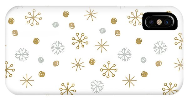 Freeze iPhone Case - Vector Seamless Winter Pattern by Mcherevan
