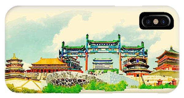 Vector Watercolor Beijing City Phone Case by Trentemoller