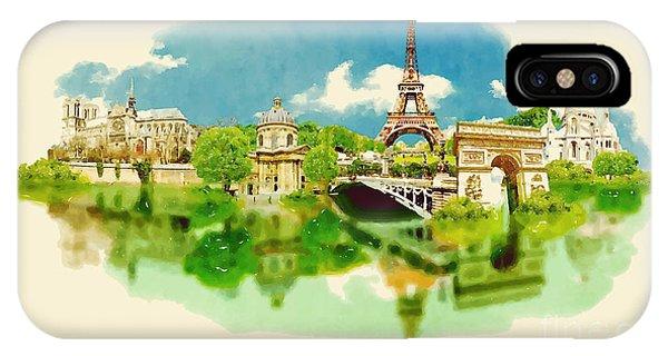 Modern iPhone Case - Vector Watercolor Illustration Of by Trentemoller