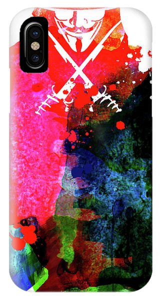 For iPhone Case - Vendetta Watercolor by Naxart Studio