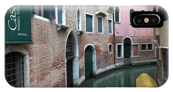 Venetian Streets -canals. Carlo Galdoni Museum IPhone Case
