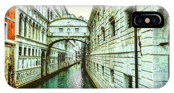 IPhone Case featuring the photograph Venice Bridge Of Sighs by Kay Brewer