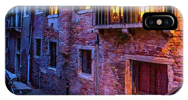 Venice Windows At Night IPhone Case