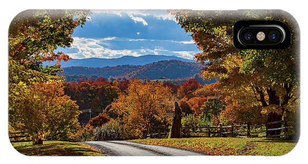 Vermont Backroad Ramble In Autumn IPhone Case