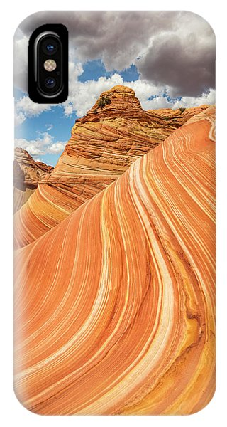 Vertical Golden Wave Phone Case by Johnny Adolphson