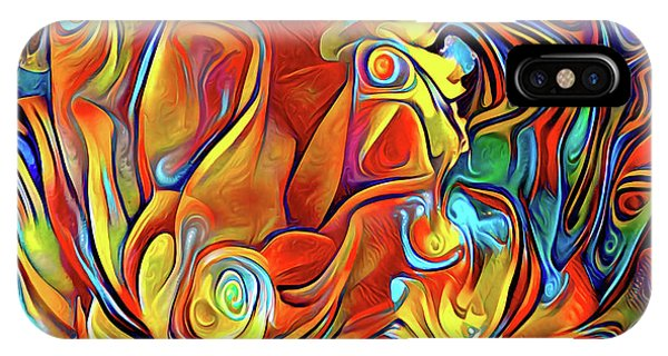IPhone Case featuring the digital art Vibrancy by Missy Gainer