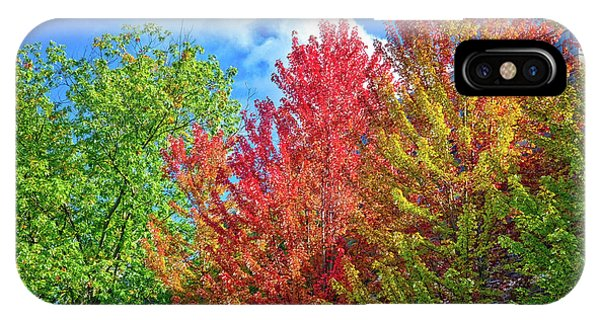 IPhone Case featuring the photograph Vibrant Autumn Hues At Cornell University - Ithaca, New York by Lynn Bauer
