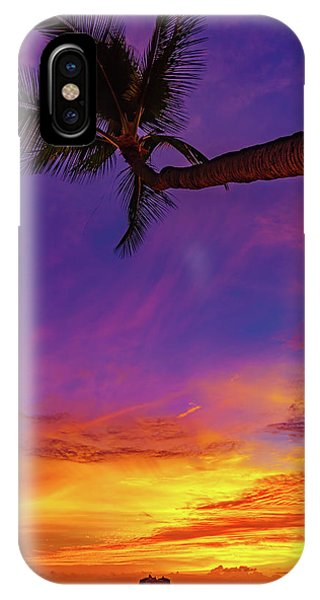 Vibrant Kona Inn Sunset IPhone Case