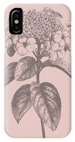 Bouquet iPhone X Case - Viburnum Blush Pink Flower by Naxart Studio